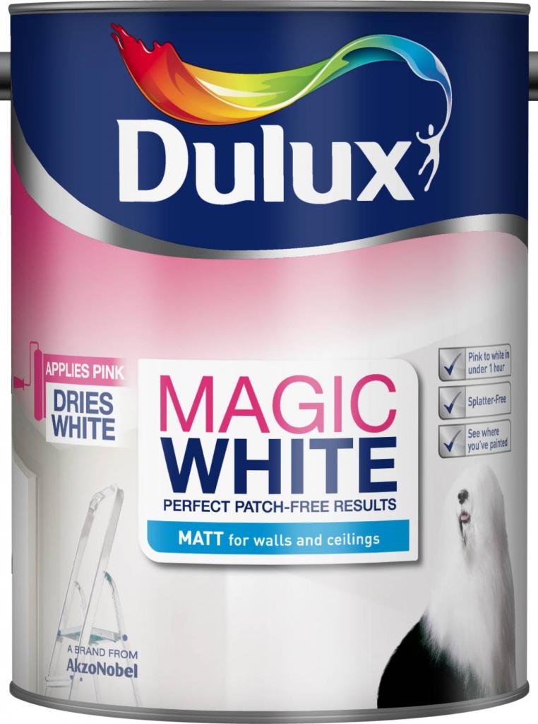 Dulux Magic White Matt 5L - Pure Brilliant White