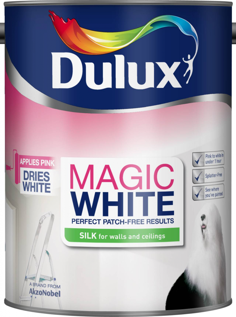 Dulux Magic White Silk 5L - Pure Brilliant White