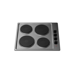 Kitchenplus 4 Zone Stainless Steel Electric Hob