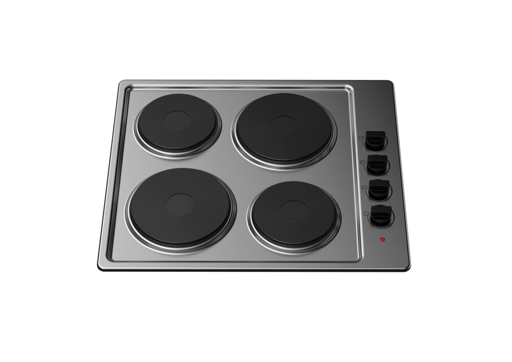 Kitchenplus 4 Zone Stainless Steel Electric Hob - 600mm