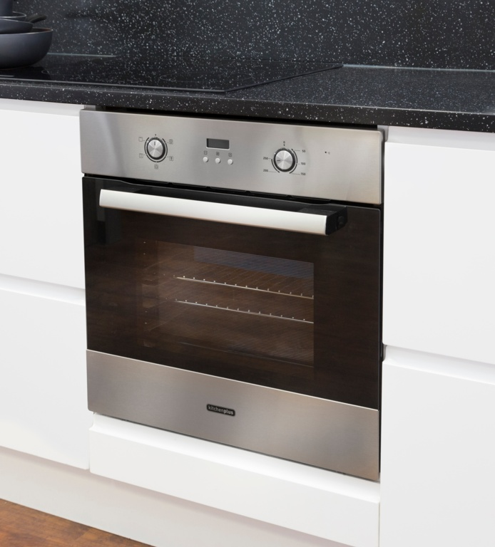 Kitchenplus Stainless Steel Electric Single Fan Oven - 600mm