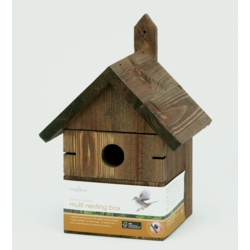 Chapelwood Multi Hole Nest Box Dark Wood