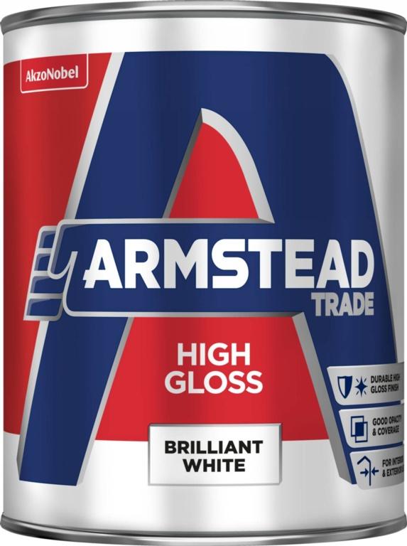 Armstead Trade High Gloss 1L - Brilliant White