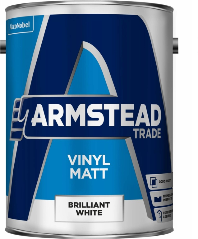Armstead Trade Vinyl Matt 5L - Brilliant White