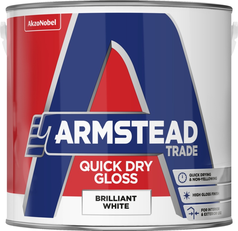 Armstead Quick Dry Gloss Trade Paint 2 5l Brilliant White