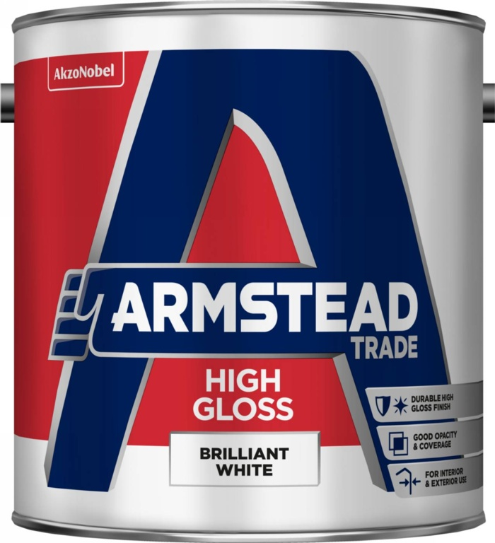 Armstead Trade High Gloss 2.5L - Brilliant White