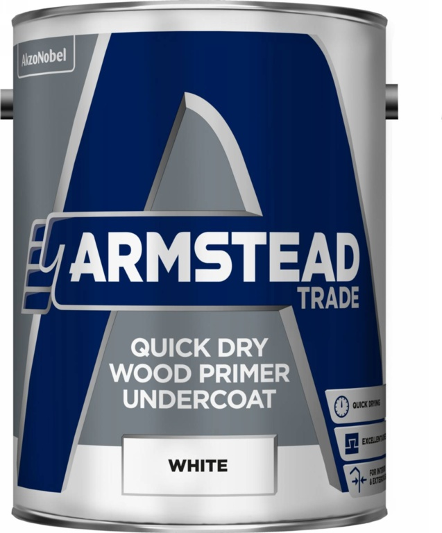 Armstead Trade Quick Dry Wood Primer Undercoat - 5L
