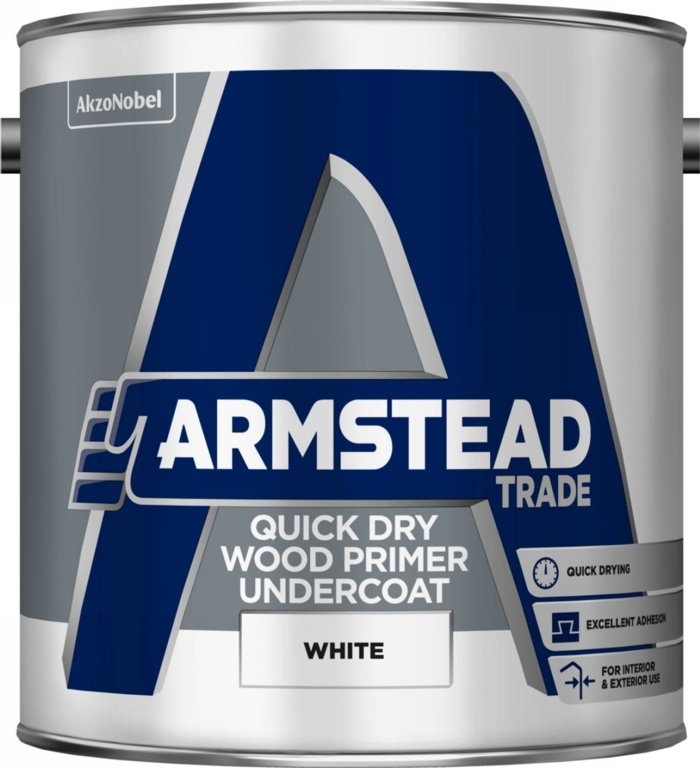 Armstead Trade Quick Dry Wood Primer Undercoat - 2.5L