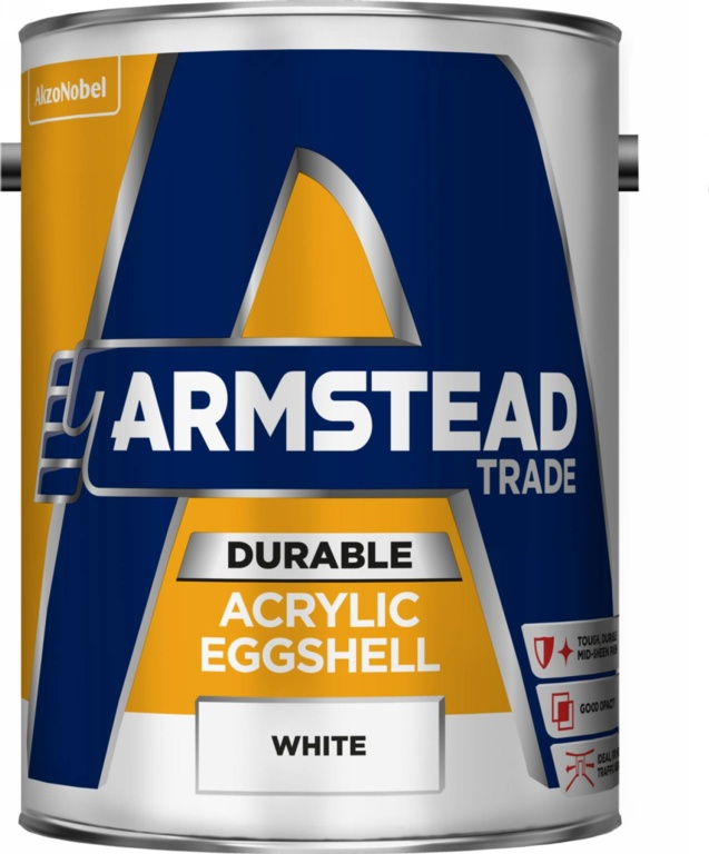 Armstead Trade Durable Acrylic Eggshell 5L - White