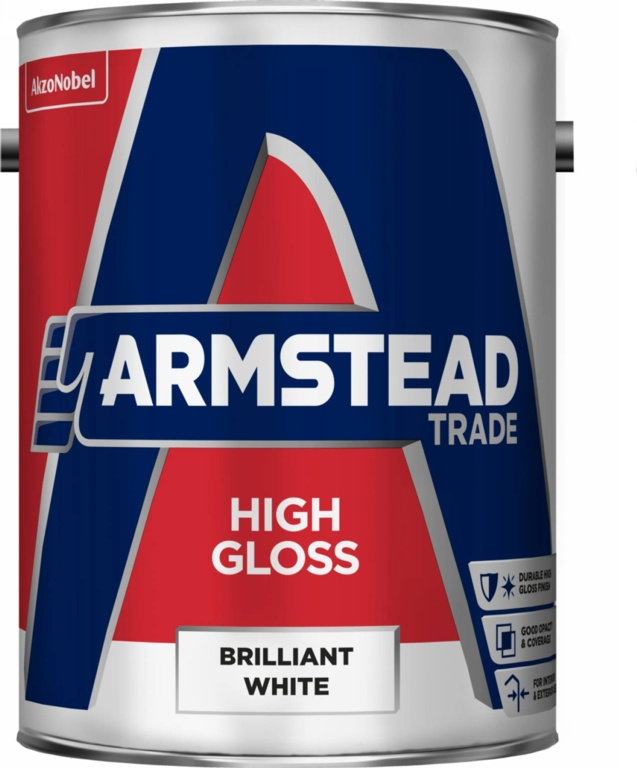 Armstead Trade High Gloss 5L - Brilliant White