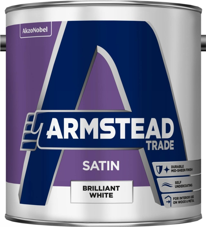 Armstead Trade Satin Brilliant White - 2.5L