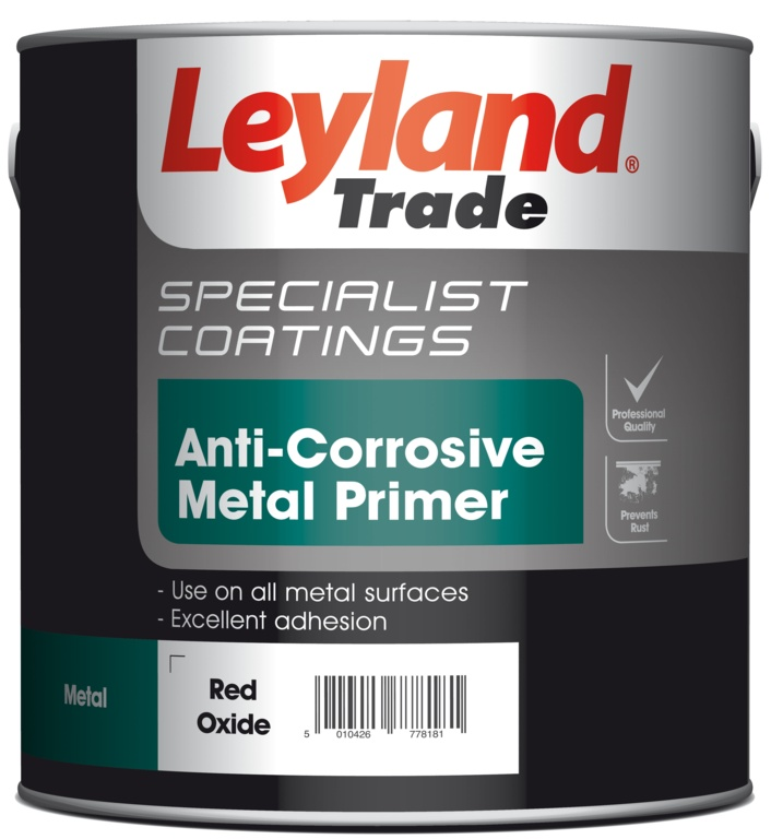 Leyland Trade Anti Corrosive Metal Primer 2.5L - Red Oxide