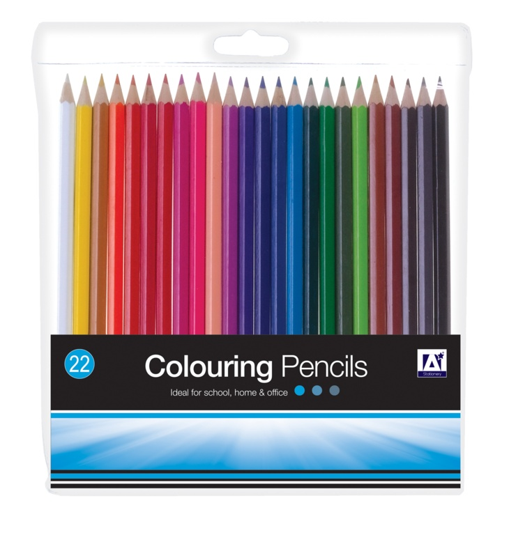 A Star Assorted Colouring Pencils - Pack 22