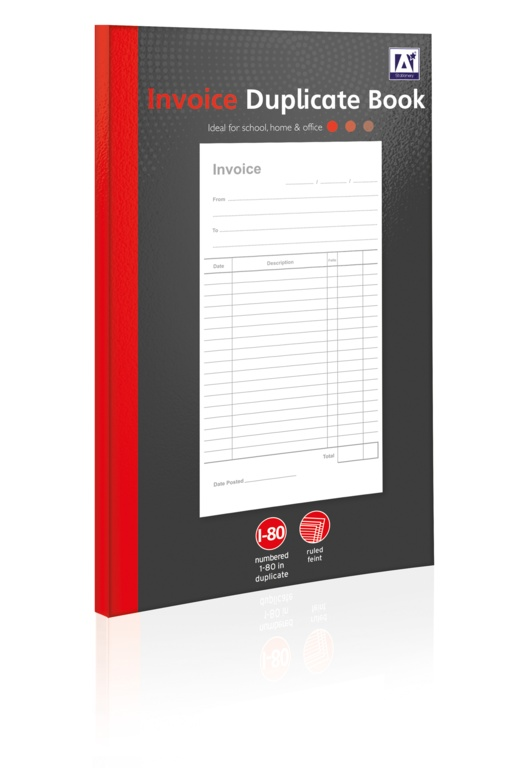 A Star Invoice Duplicate Book - 80 Pages