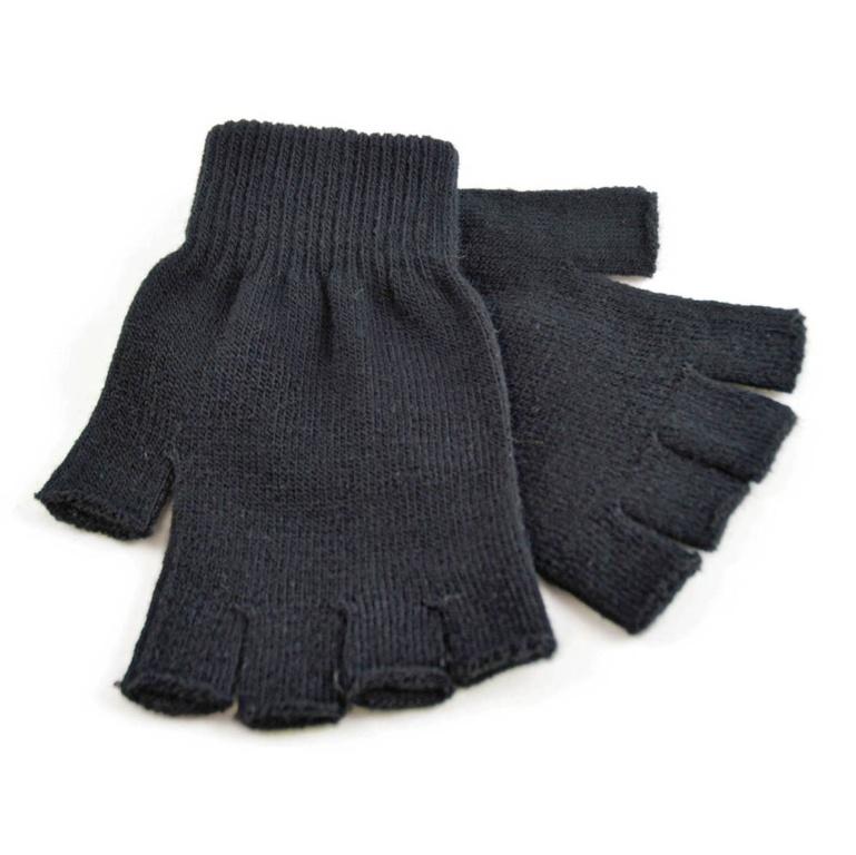Laltex Mens Black Fingerless Magic Gloves