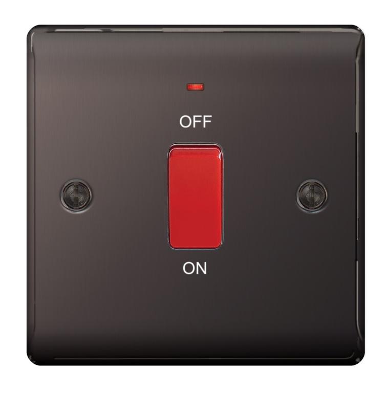 BG Metal Black Nickel Dp Switch Neon Sp - 45a