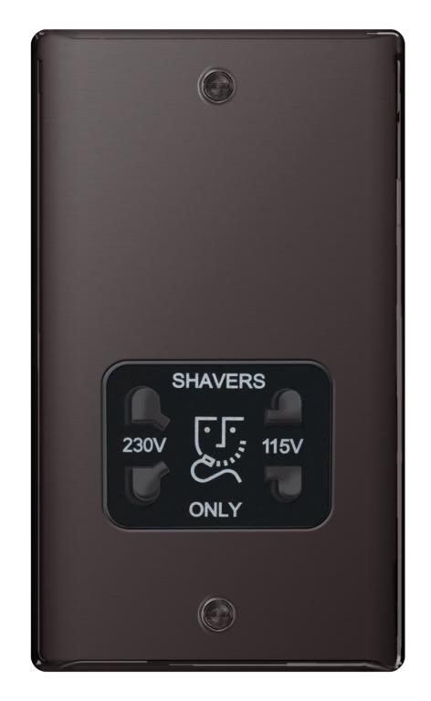 BG Shaver Socket 115/230v - Black Nickel