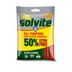 Solvite All Purpose Wallpaper Adhesive 5 Roll + 50 Extra Fr