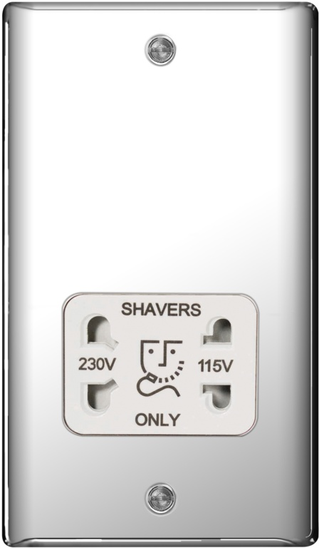 BG Chrome Shaver Socket Dual Voltage