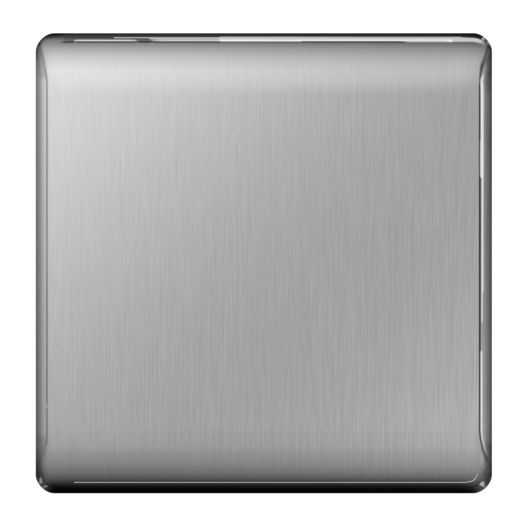 BG Brushed Steel Blank Plate - 1 Gang
