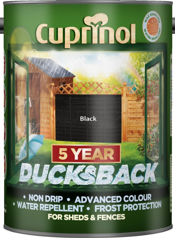 Cuprinol Ducksback 5L - Black