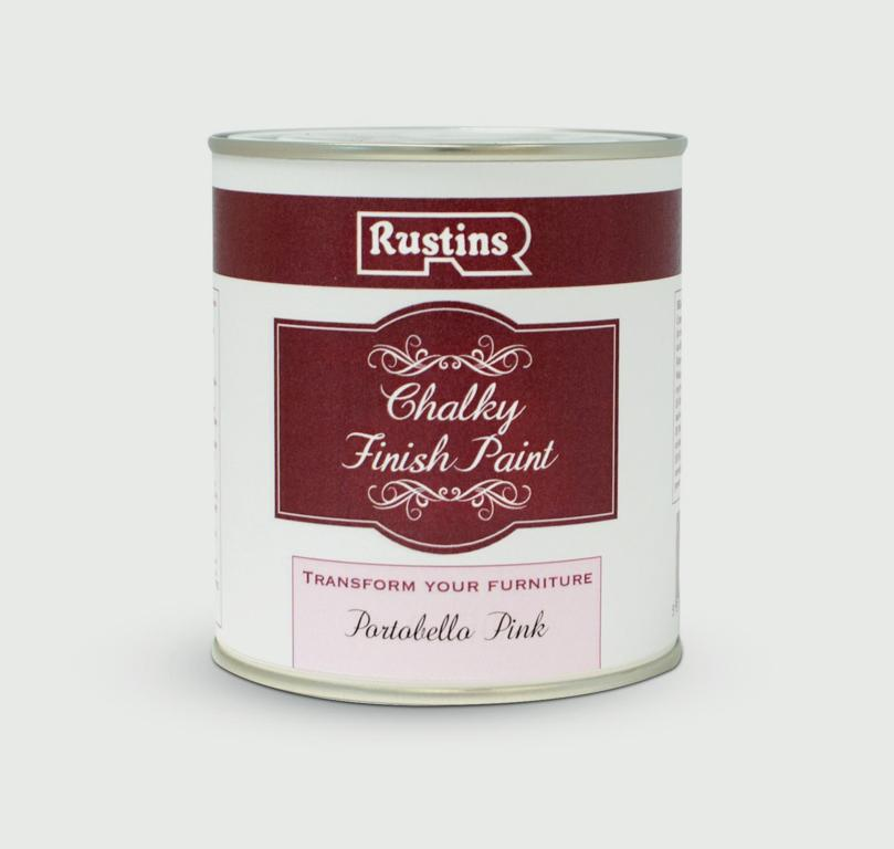 Rustins Chalky Finish 250ml - Portobello Pink