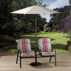 Pagoda Bari Companion Bench With Parasol