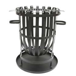 Pagoda Fire Basket With Grill