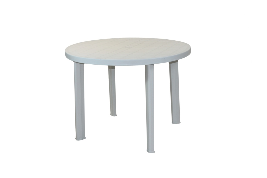 SupaGarden White Plastic Round Table - 90cm