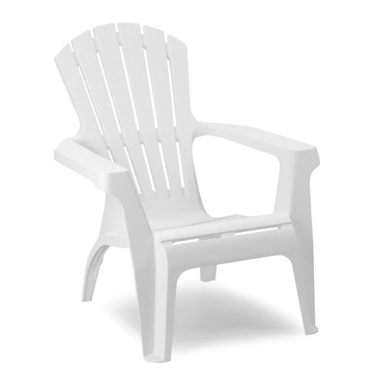 SupaGarden Plastic Stackable Armchair - White