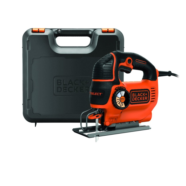 Black & Decker 520W Variable Speed Compact Jigsaw with blade and Kit box