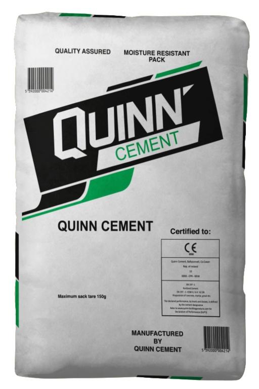 Quinn Cement Ordinary Portland Cement - Grey - 25kg