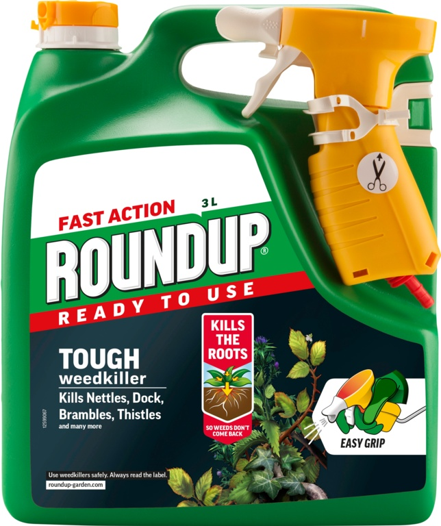 Roundup Fast Action Ready To Use Weedkiller - 3L