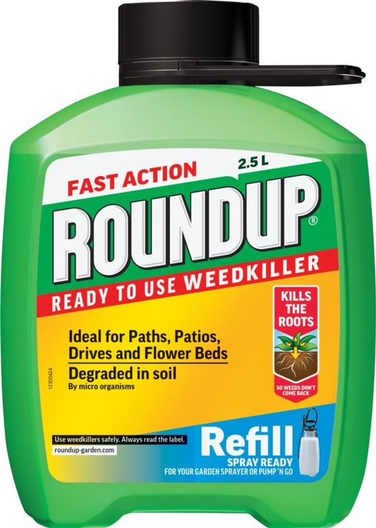 Roundup Fast Acting Mini Refill - 2.5L