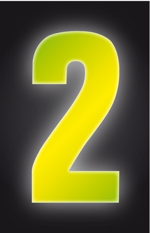 Classic Designs Hi Vis Yellow Wheelie Bin Number - 2