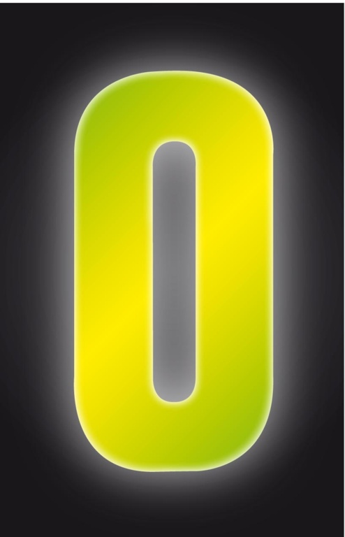 Classic Designs Hi Vis Yellow Wheelie Bin Number - 0