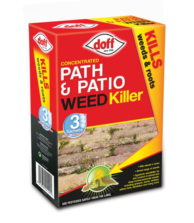 Doff Path & Patio Weedkiller 3 Sachet - 3 x 100ml