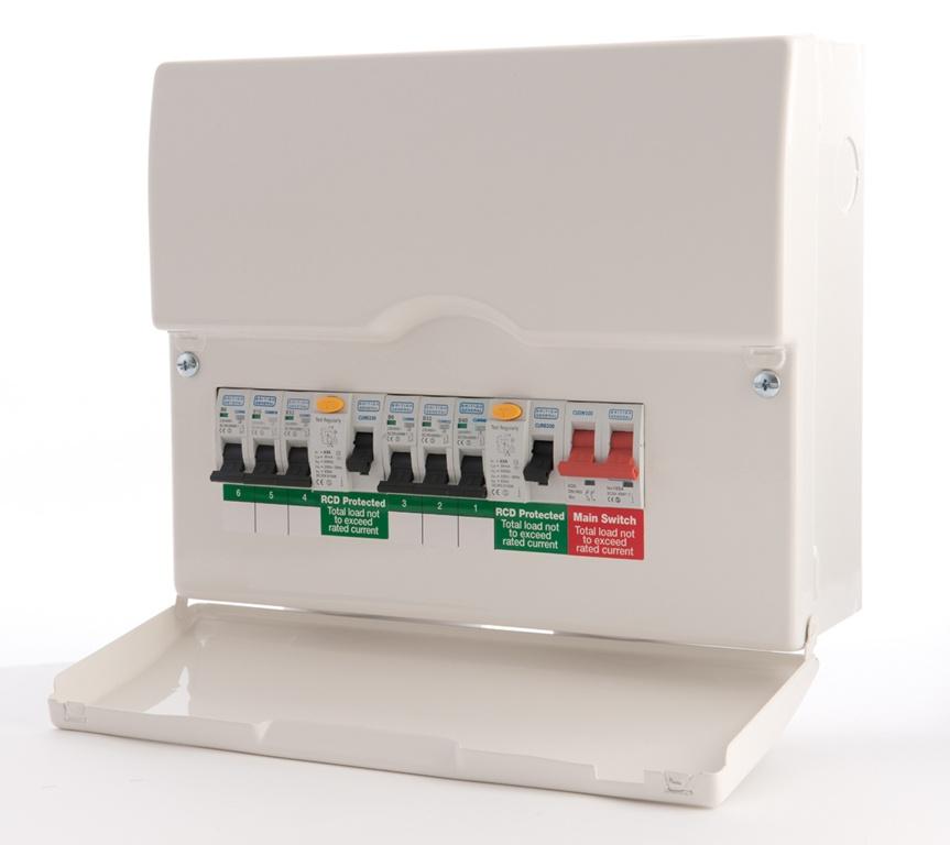 BG Dual RCD Pre-Pop Consumer Unit - 12 Module