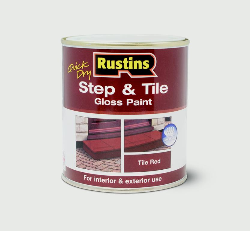 Rustins Quick Drying Step Tile Red - 500ml