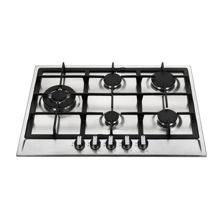 Kitchenplus 5 Burner Stainless Steel Gas Hob - 700mm