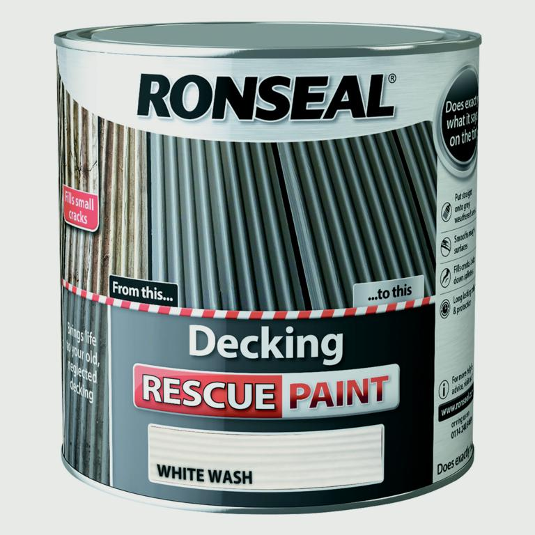 Ronseal Decking Rescue Paint 2.5L - White Wash