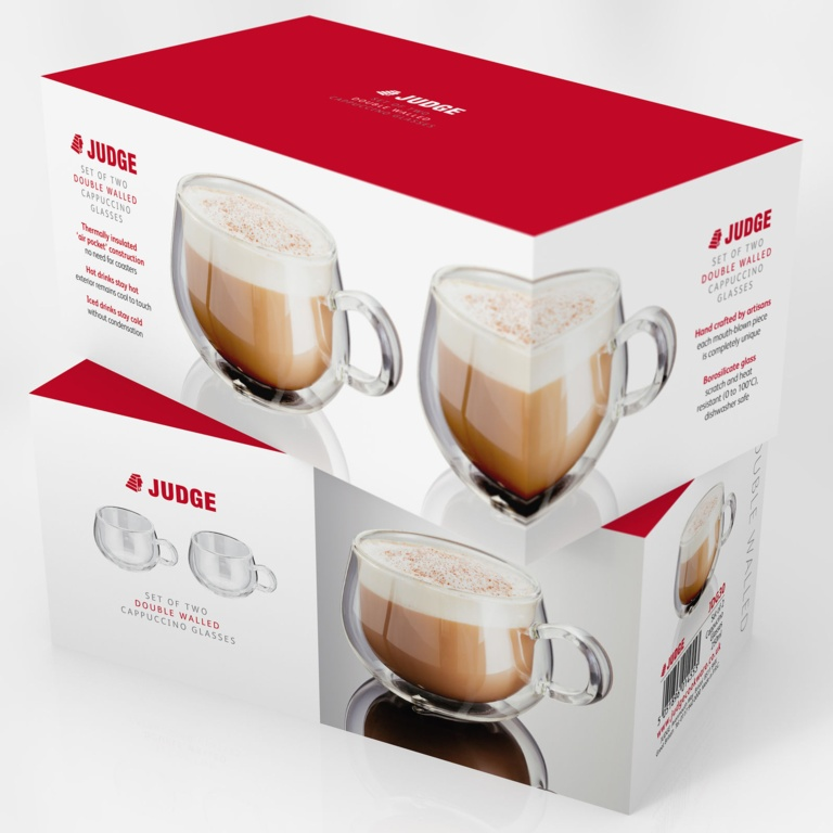 Judge Double Wall Glasses Pack 2 - Cappuccino