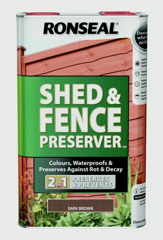 Ronseal Shed & Fence Preserver 5L - Dark Brown