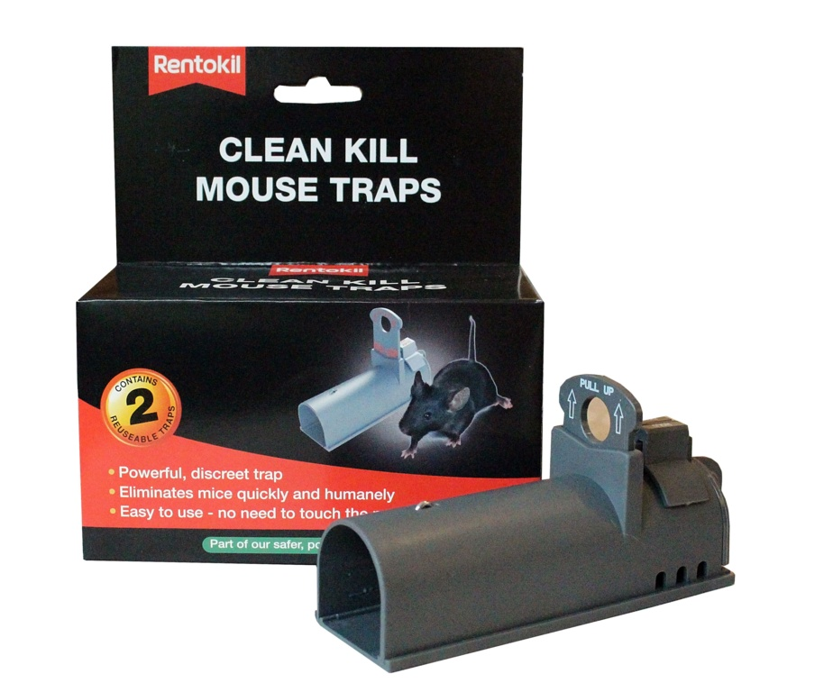 Rentokil Clean Kill Mouse Trap - Twin Pack