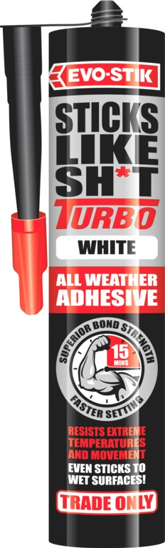 Evo-Stik Sticks Like Sh*t Turbo - White 290ml