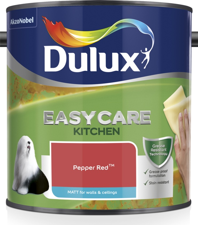Dulux Easycare Kitchen Matt 2.5L - Pepper Red