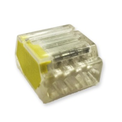 Lyvia 4 Pole Pushwire Connector Transparent With Yellow Side