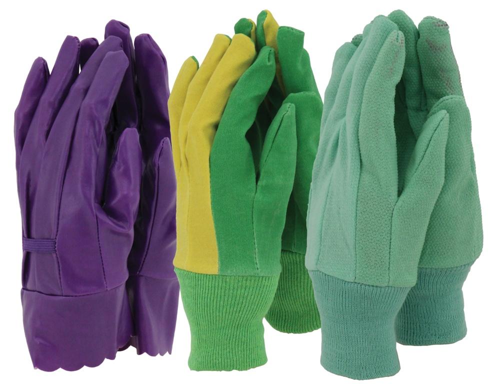 Town & Country Ladies Gloves - 3 Pair Pack