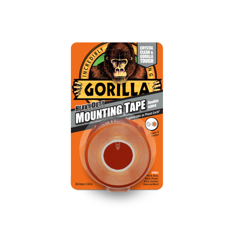 Gorilla Heavy Duty Double Sided Mounting Tape - 1.5m Clear