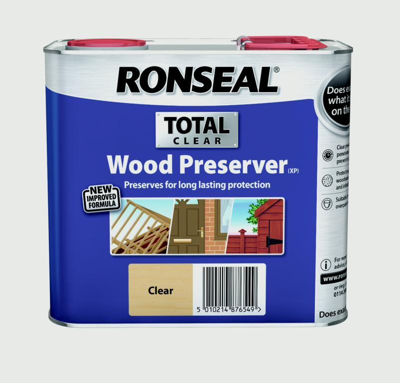 Ronseal Total Wood Preserver 2.5L - Clear